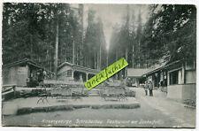 Postkarte von 1907 :  Schreiberhau / Szklarska Poręba , Restaurant am Zackelfall