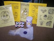 Day of the Dead Sugar Skull PARTY KIT - 1 MOLD - Make Sugar Skulls at Home!