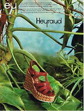 PUBLICITE  1975   HEYRAUD   chaussures