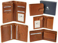 Visconti Gents Mens Vicenza Collection Italian Veg Tan Luxury Leather Wallet