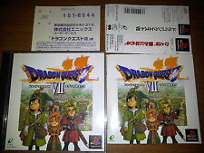 DRAGON QUEST VII  SONY PLAYSTATION PS JAP JAPANESE GAMES PSX PS1