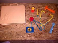 Vintage Fisher Price Toys Juguete Kit Médico/Caja enfermera Doctores & Accesorios 1977