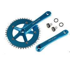 Plato y Bielas AZUL Aluminio CNC de Bicicleta Fixie Singlespeed 165 x 46 T 3742