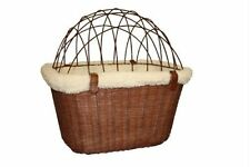 Solvit Wicker Dog Cat Bicycle Basket with Cage for pets up to 13# Model 62331