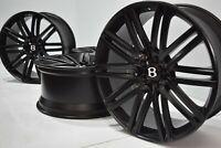 "21"" BENTLEY CONTINENTAL GT FACTORY OEM SATIN BLACK WHEELS RIMS 21 inch"