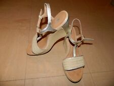 UGG Womens Fitchie Wedge Sandals Gold, Beige US 10 UK 8 EU 41