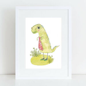 NEW Trev Rex - Limited Edition Fine Art Print Boy's by hiccup art