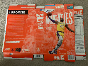 LEBRON JAMES WHEATIES Box ***FLAT*** Los Angeles Lakers Cereal Box 2020 CHAMPION