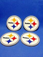 Set Of 4 Coasters NFL Pittsburgh Steelers Rubber/Vinyl