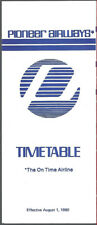 Pioneer Airways system timetable 8/1/80 [8021]