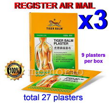 Tiger Balm Plaster Cool Cold 9 Patches Medicated Pain Relief 10cm X 14cm