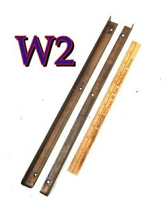 Pair Original Antique Globe Wernicke File Cabinet DRAWER GUIDES Runners/Tracks b