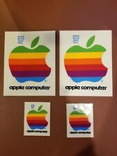 4 New Vintage Apple Computer Rainbow Stickers Decals 1983? 1980s old stock