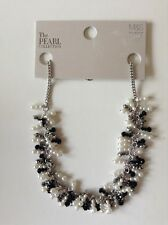 M&S The PEARL Collection Faux Pearl Sparkle Cluster Necklace - Cream mix - NEW