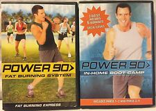2 Power 90 exercise DVD lot, includes original 6 workouts + fat burning System