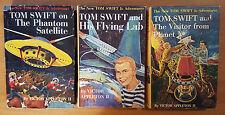 Lot of Tom Swift Jr. Hardback Books - 1 Flying Lab - 9 Satellite - 17 Planet X