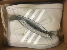 brand new f1117 dad54 NEW ADIDAS ORIGINALS PRO MODEL GREY LEATHER CASUAL SHOES CG5073 MEN SIZE 7.5