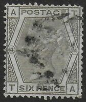 SG147. 6d.Grey (Wmk.Spray) Plate 14. Fine Used Condition. Ref:0773