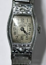 ART DECO CHATEAU CADILLAC LADIES WRIST WATCH 6J 2 ADJ 4 PARTS/REPAIRS #W426