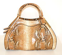 71253c8375 BORSA MARRONE BEIGE vernice lucida rigida ecopelle MAXI donna bag sac bolsa  1070