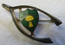 Antique Wishbone w Crest Edmonton STG Pin Goddess Jade Jewelry