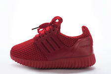 Boys Girls  Trainers Sports Runner Lace Up Shoes red, black and blue Size 9-12