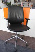 Vitra - Meda 2 - Bürodrehstuhl - Leder - Schwarz - K821