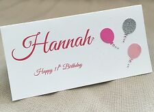 1 x Handmade Personalised Birthday Money Gift Voucher Wallet Card Balloons