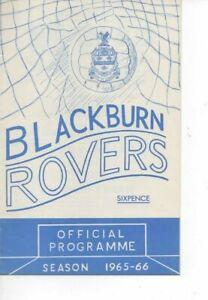 Blackburn Rovers v Blackpool 1965/66 Division 1