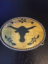 Longhorn Steer Belt Buckle by Princess Butch