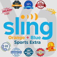 SlingTV Orange + Blue + Sports Extra | Lifetime Warranty | Instant Delivery