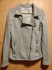 Tommy Hilfiger Denim Marl Grey Jacket Biker Cotton Size Small 8 6