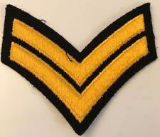 CANADIAN FORCES CORPORAL RANK INSIGNIA  Gold on Black #4937