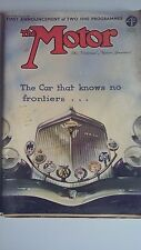 The Motor magazine 15/8/39 Featuring Rovers Singers Citroen Hotchkiss Ten