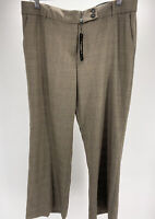NWT Women's Talbots Petites Brown Houndstooth Plaid Dress Pants Size 12P NEW