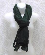 Sciarpa calda acrilico unisex sportiva giovane verde scuro morbida maglia