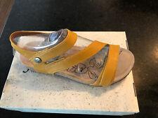 Women's Josef Seibel, Tonga 25 Sandal Yellow Leather 39 8/8.5