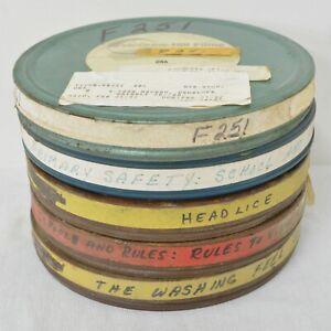5 x 16mm Film w/ Reel + Canister Random Mix, Educational, Cartoons Ex-Library