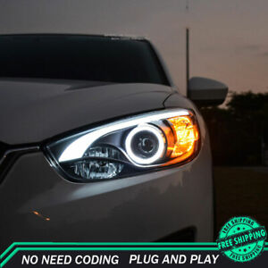 For Mazda CX-5 Headlight Assemblies 2013-2015 HID Xenon Beam Projector LED DRL