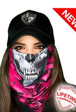 SA PINK CAMO SKULL Face Shield Mask Balaclava Head band Beanie Bandanna do rag