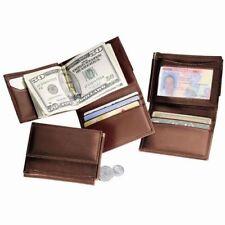 Royce Leather Men's Money Clip Wallet - Coco Brown