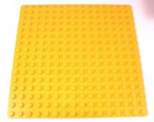 "LEGO Yellow Baseplate 16x16 stud Grass Lawn City town 5""x5"" - Orange-Yellow"