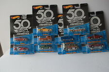 2018 Hot Wheels 50th Anniversary Favorites Complete Set of All 10 Cars AS PICTUR
