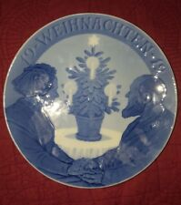 Rare ROYAL COPENHAGEN CHRISTMAS PLATE 1912 German Text, PERFECT CONDITION
