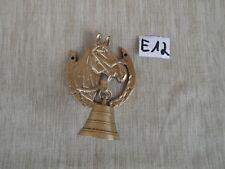 Verzierte Messingglocke  Pferdekopf mit glocke