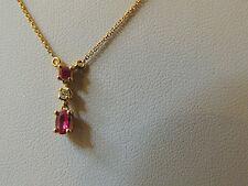 Collier ras de cou or 18 carats rubis et diamant