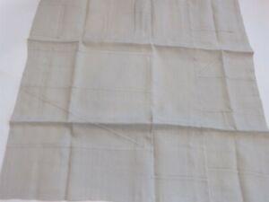 2 Calvin Klein Pojagi Talc Taupe Linen Geometric Stitched euro shams NIP $330