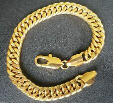 Yellow Gold Filled Chain Bracelets for Men