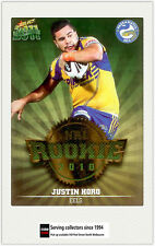 2011 Select NRL Champions Trading Cards Rookie 2010 R38 Justin Horo (Eels)