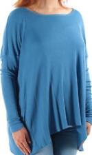 RALPH LAUREN $89 Womens BLUE Modal Casual TUNIC Top Shirt Blouse SZ S NWT